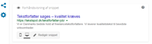 Eksempel på meta description